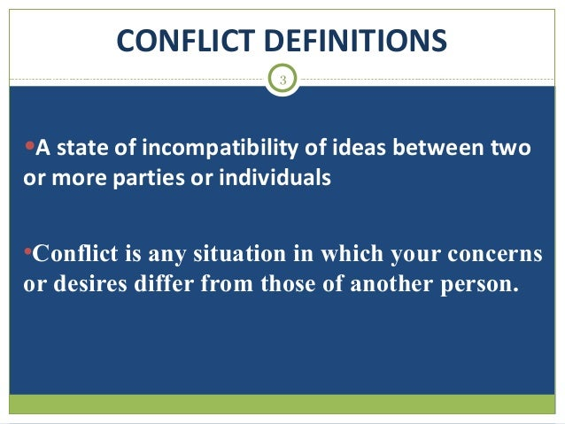 Accommodating conflict definition in a story